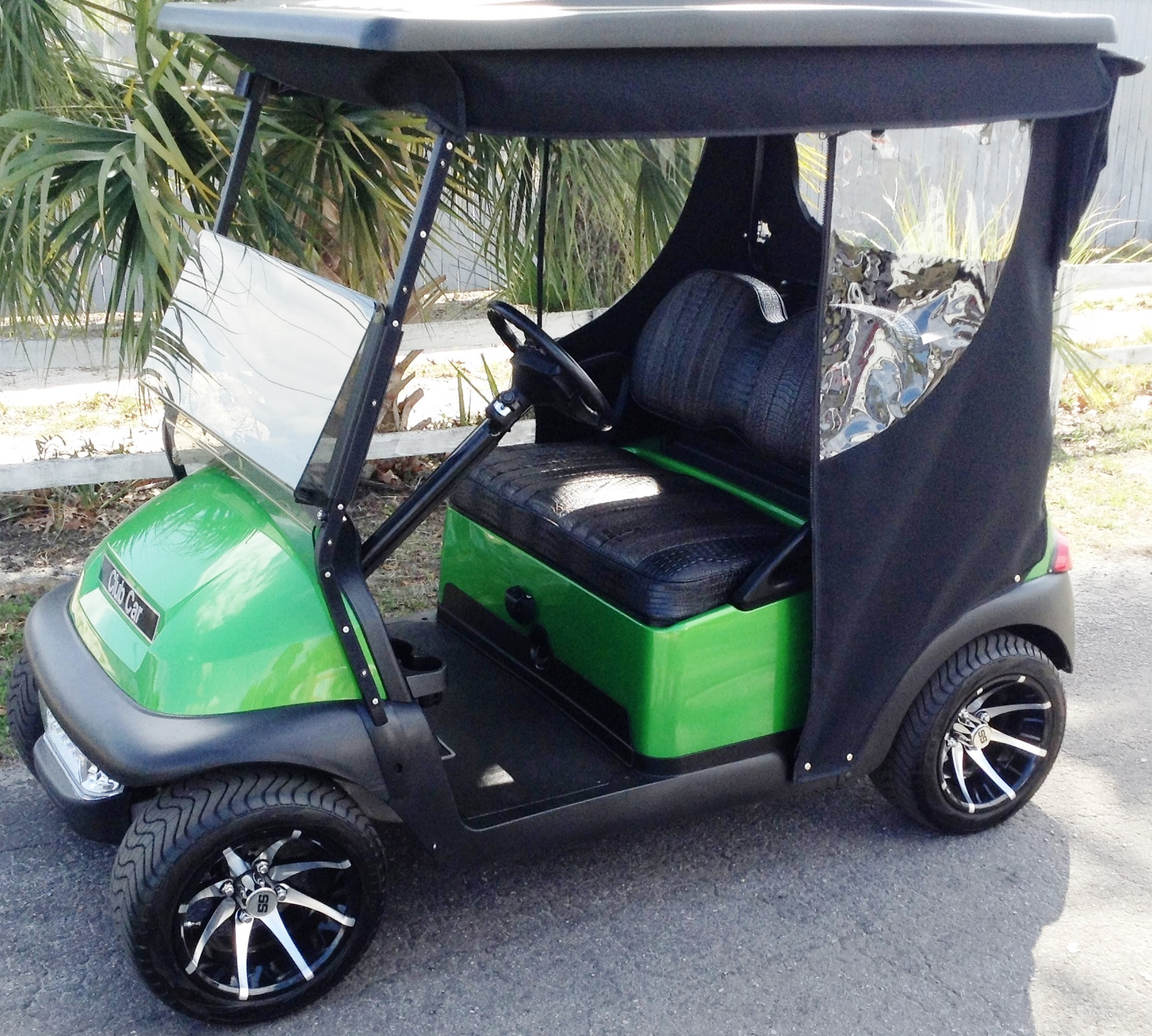 Green club car golf cart