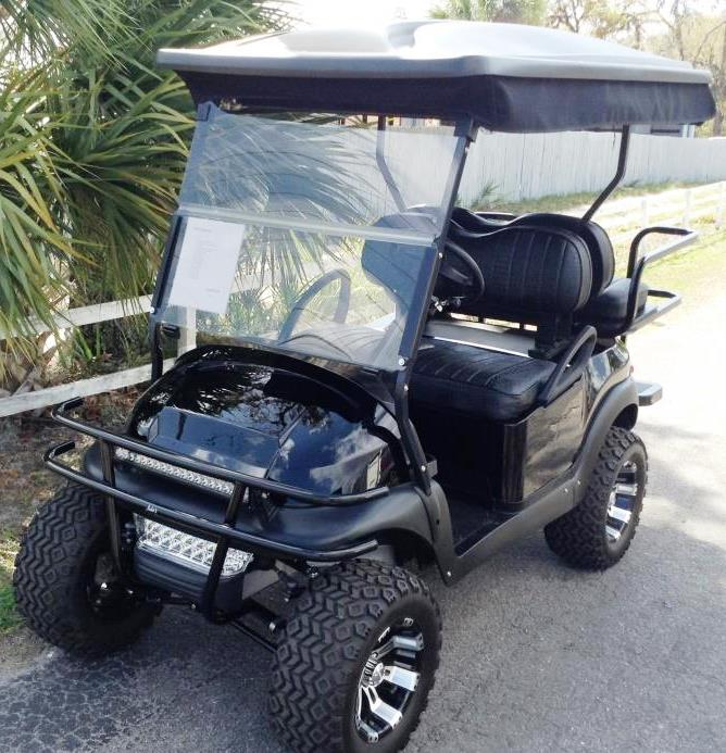black club car golf cart