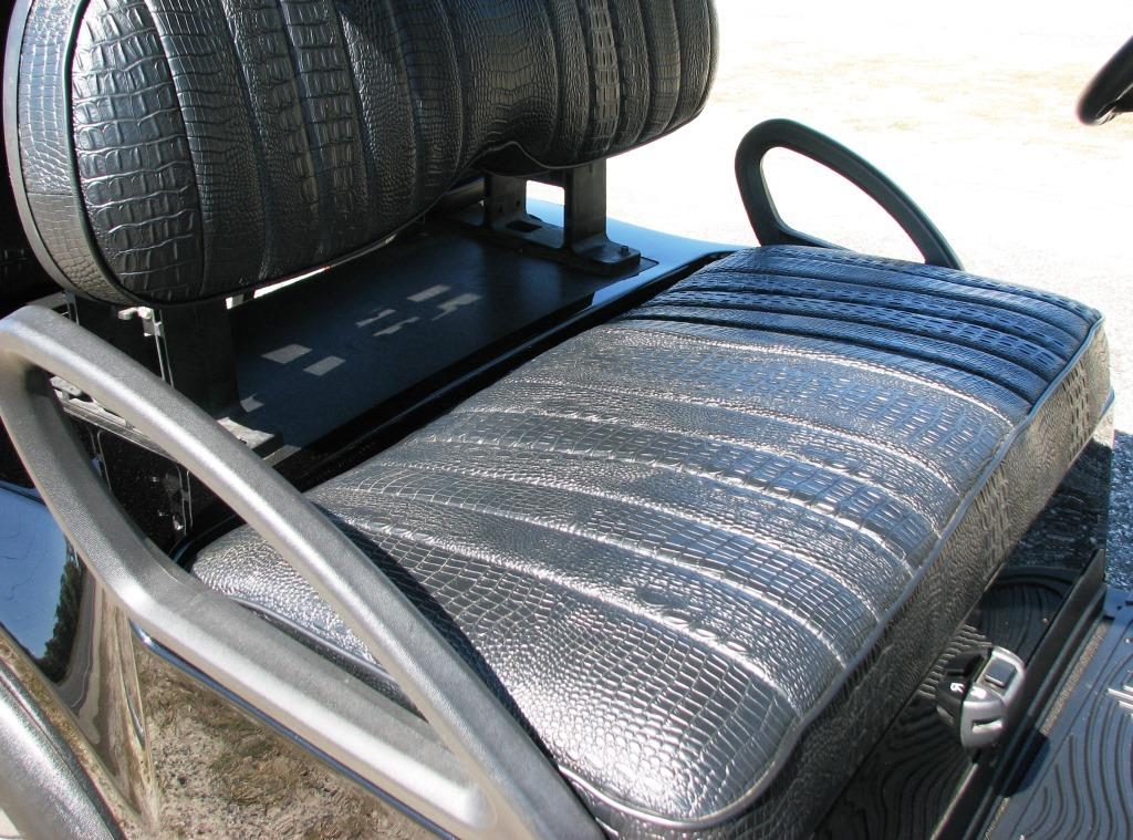 black golf cart seat